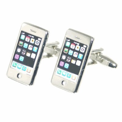 Silver iPhone Cufflinks