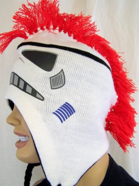Star Wars Storm Trooper Kids Mohawk Plush Beanie