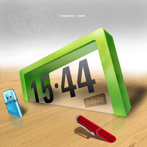 """""""Drowning Time"""" desktop clock concept"""