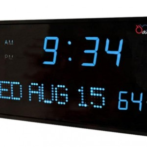 Big Oversized Digital Red LED Calendar Clock with Day Date and Temperature