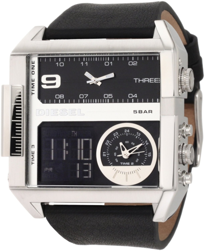 Diesel Watches Men's SBA Ana-Digi Black Dial Watch