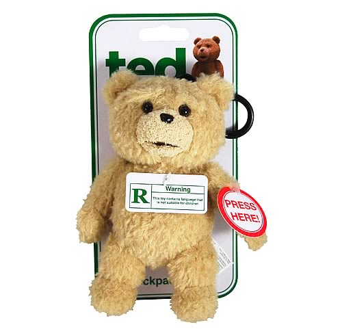 Ted Talking Backpack Clip Plush Teddy Bear