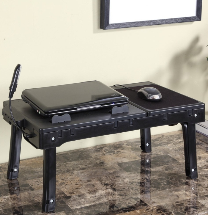 Multifunctional Laptop Table Stand With Cooling Fan & USB Ports