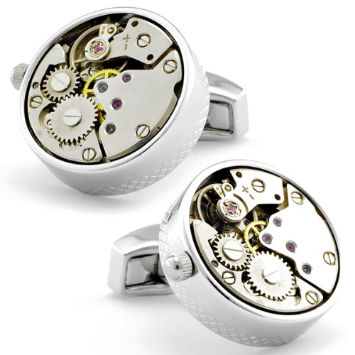 Tateossian Skeleton Rhodium Cufflinks