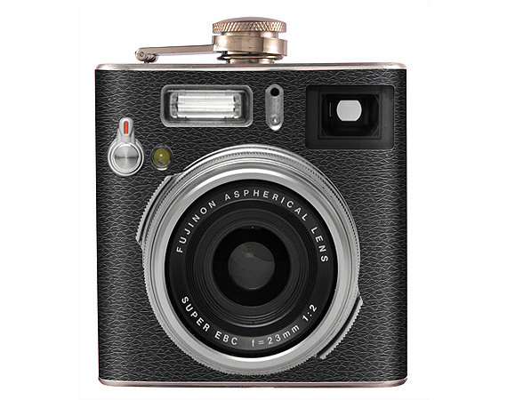 Liquor Hip Flask Camera Retro