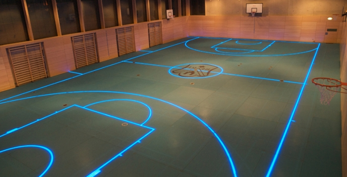Changeable LED gym floor
