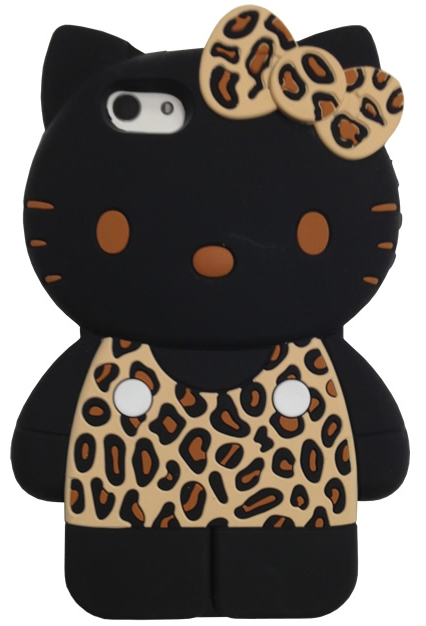 Leopard/Brown anrio Hello Kitty 3D iPhone 5 Case