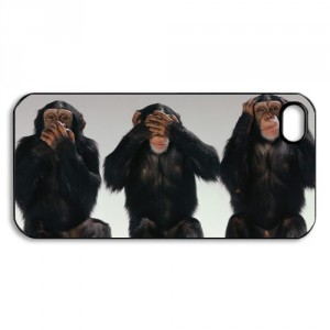Three Monkeys expression funny case for iPhone 5