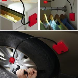Set of 2 Flexible LED Super Lights w/ Magnetic Base