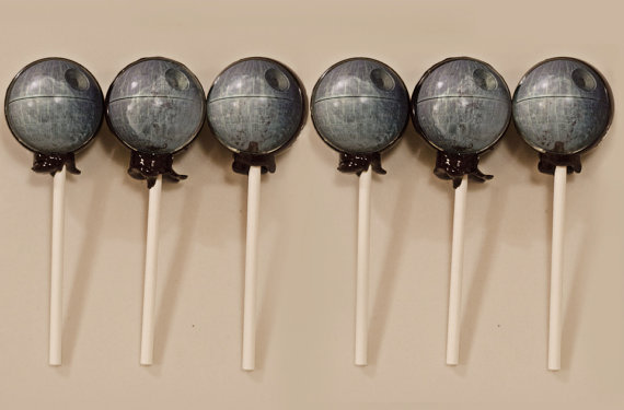 6 Star Wars Inspired Death Star Lollipops