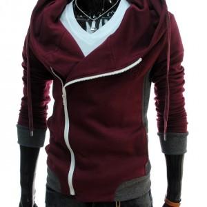 Mens Casual Slim Fit Hood Cotton Jacket