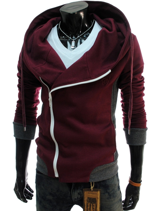 Mens Casual Slim Fit Hood Cotton Jacket