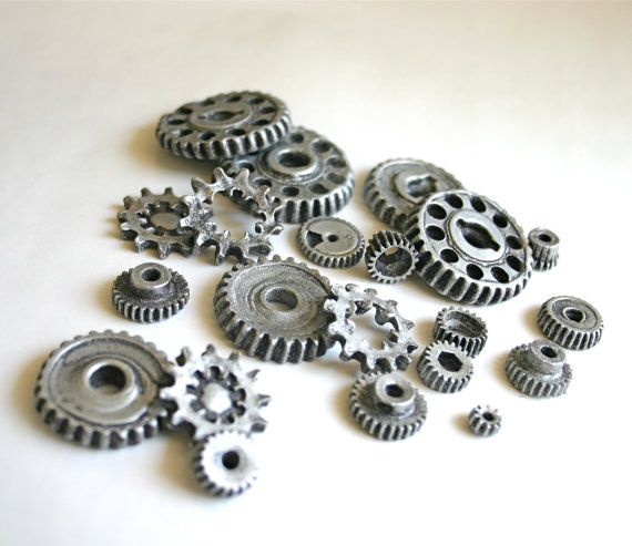 Edible Chocolate Candy Gears