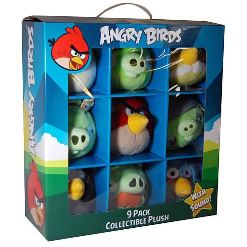 Angry Birds Collectible Talking Plush 9-Pack