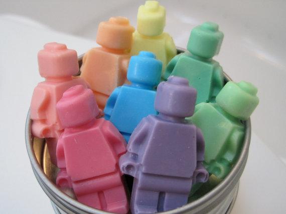 Lego Minifigure Soaps