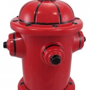 Fire Hydrant Ceramic Cookie Jar Fireman Firefighter