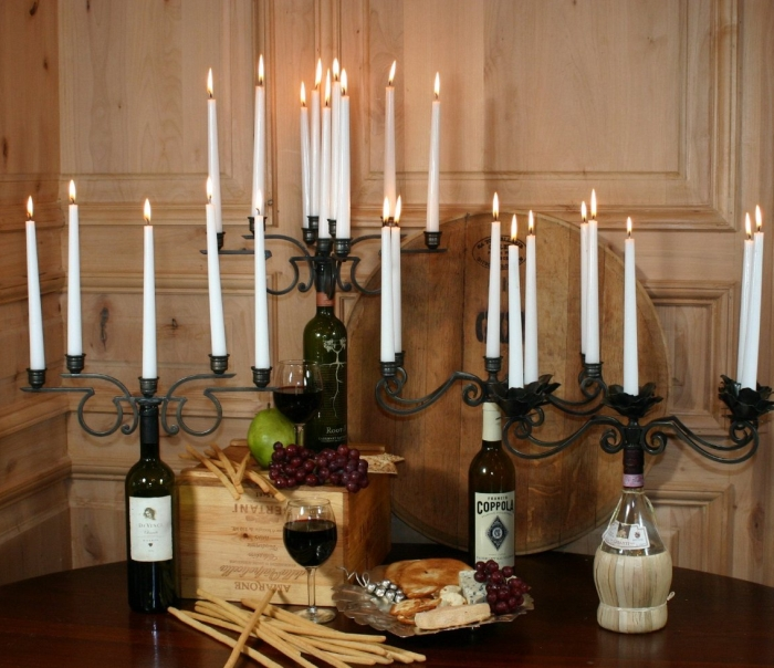Old River Road Wine Bottle Candelabra