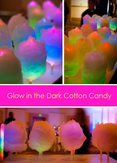 LED glow in the dark cotton candy sticks