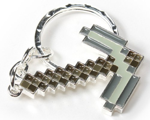 Minecraft Metal Pickaxe Keychain