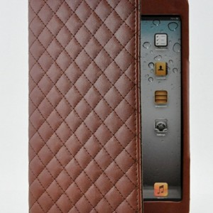 Design Luxury PU Leather Case with Smart Cover Wake/Sleep Function Magnetic Closure