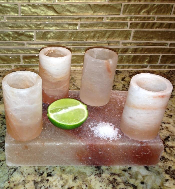 Amazon.com  Himalayan Salt Tequila Shot Glass Set With Salt Plate - MAIN