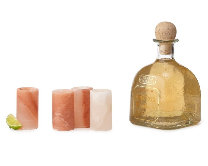 Amazon.com  Himalayan Salt Tequila Shot Glass Set With Salt Plate - PT01