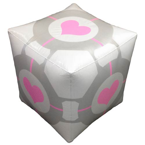 Portal 2 Companion Cube Inflatable Ottoman
