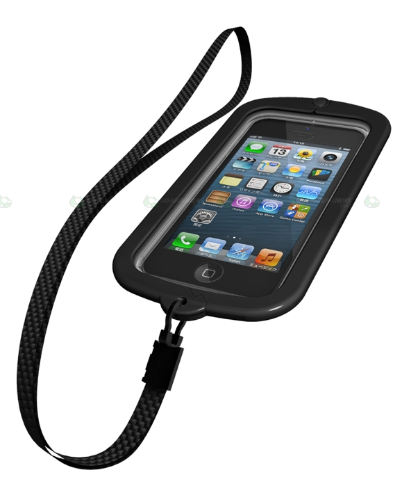 Waterproof iPhone 5 case with strap