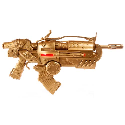 Gears of War 3 Locust Hammerburst II Gold Prop Replica