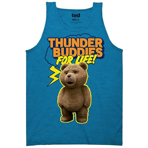 Ted Thunder Buddies for Life Blue Tank Top
