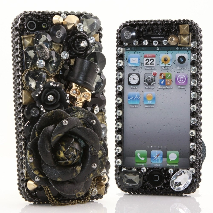 3D Swarovski Crystal Bling Case Cover for iphone 5