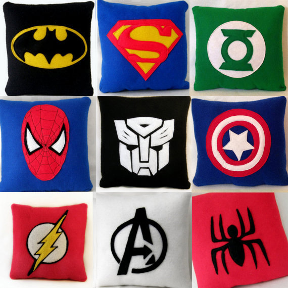 9 inch Superhero cushion