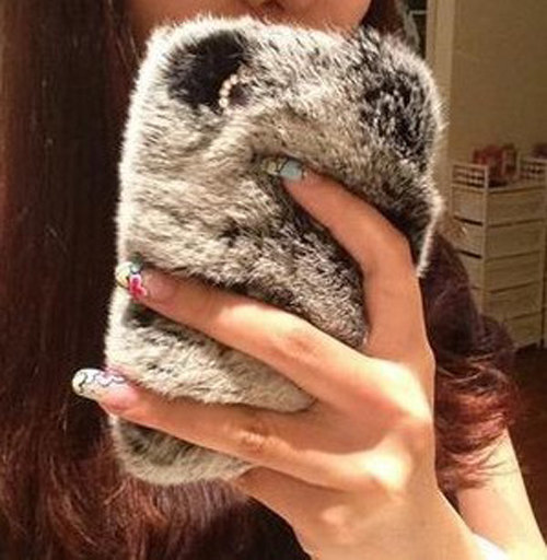 Luxury Fur Case for Iphone 5
