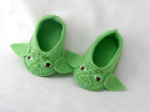 STAR WARS baby felt shoes