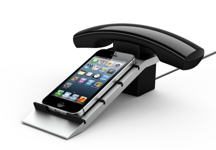 Wireless Bluetooth Handset and Phone stand for iPhone 5