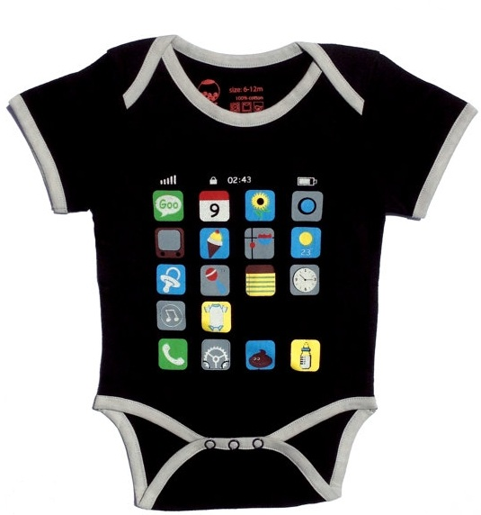 I phone baby bodysuit