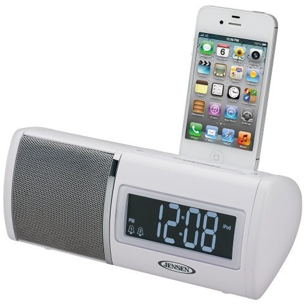 jensen docking digital clock radio for ipod and iphone gadgets matrix. Black Bedroom Furniture Sets. Home Design Ideas