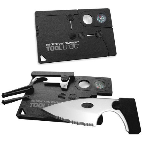 Credit Card Companion with 2-Inch Serrated Knife