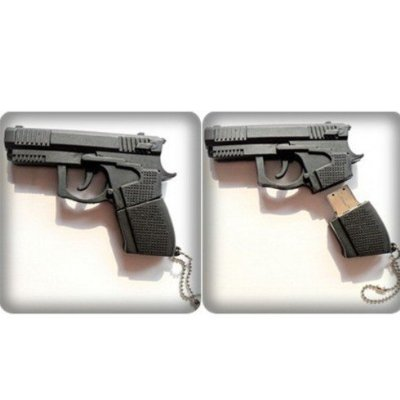 8gb Black Gun Shape