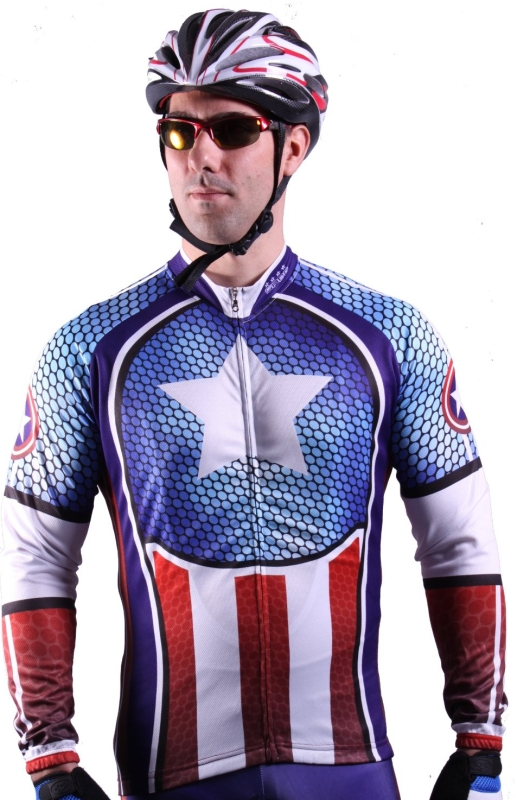 CAPTAIN STYLE AMERICA CYCLE CYCLING JERSEY