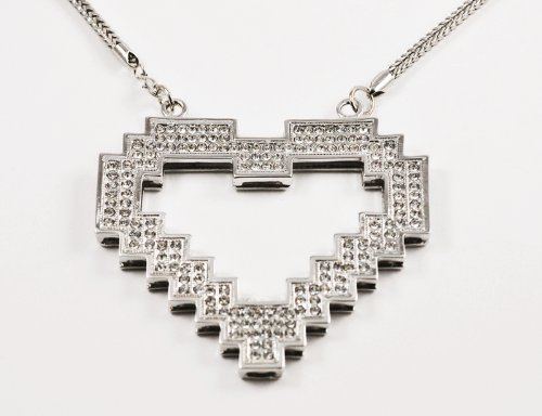 Pixel Digital Heart Pendant