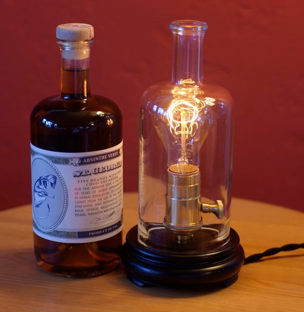 Apothecary Bottle Table Lamp with built-in dimmer