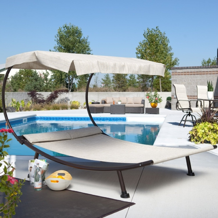 Double Chaise Lounge with Canopy