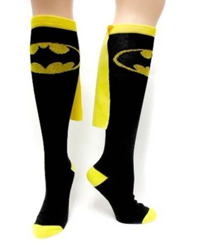 Batman Superhero Black Cape Socks