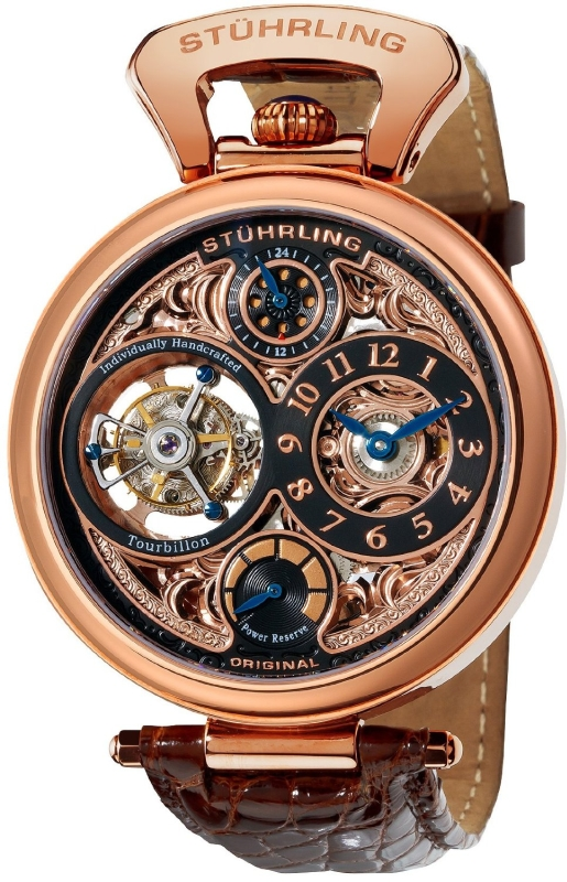 Stuhrling Original Men's Goldtone Tourbillon