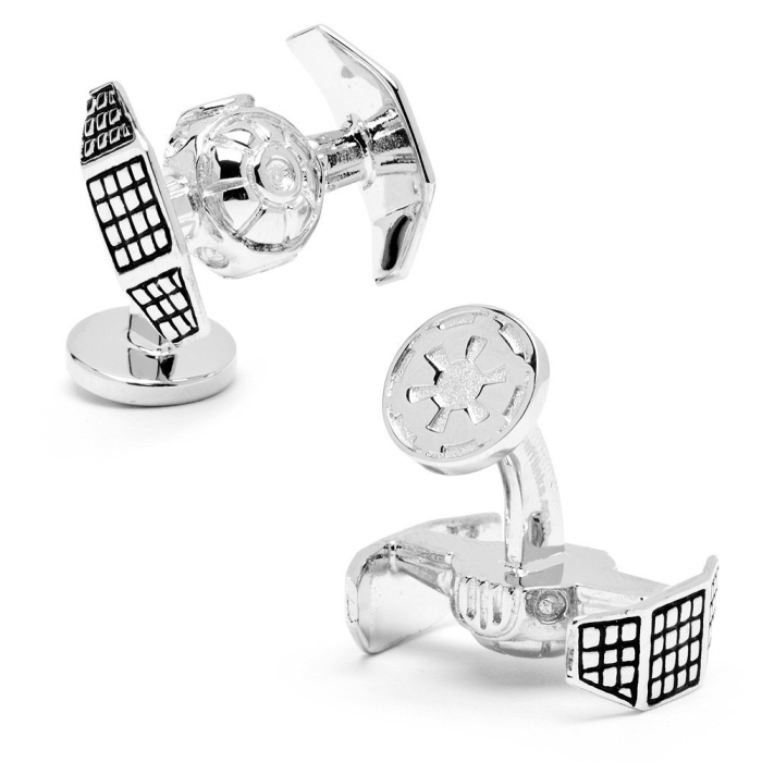 Star Wars Palladium Darth Vader Tie Starfighter Cufflinks