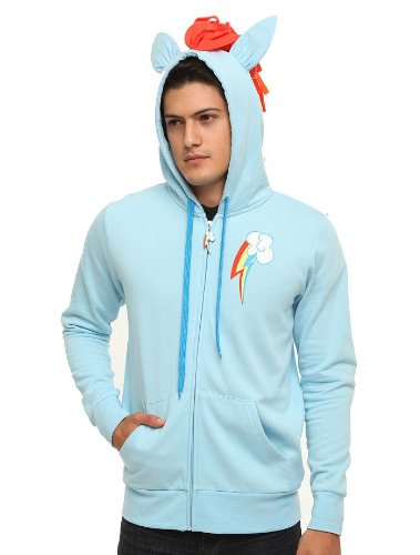 My Little Pony Rainbow Dash Mens Brony Fullzip Hoodie