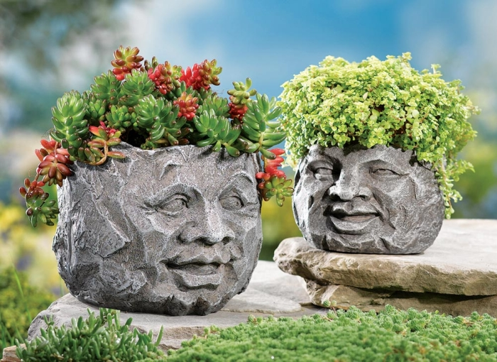 Face Garden Planters
