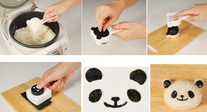 Panda Seaweed Nori Punch and Rice Mold Kit