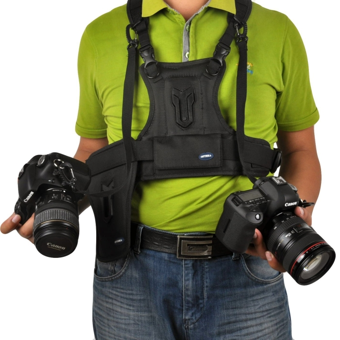 Multi Camera Carrier Harness Holster System for DSLR Cameras